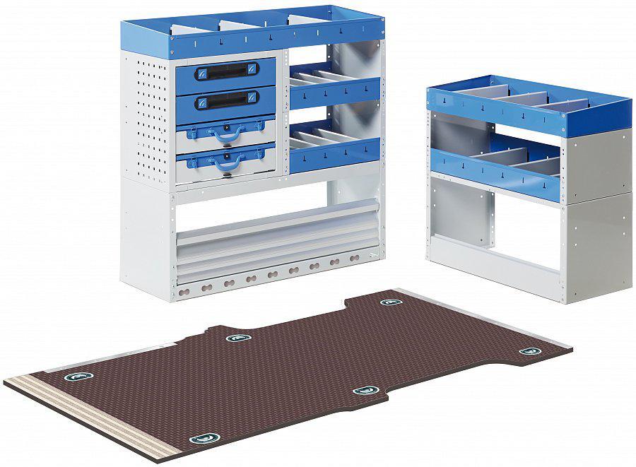 equipamiento de estanterías modulares con Tecnolam