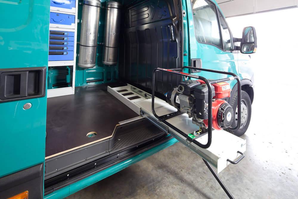 equipamiento para furgonetas - plataformas extraibles